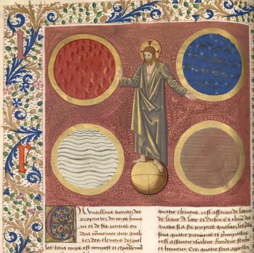 Debut qu quart livre BNF Francais 218 fol 44v. apres 1475