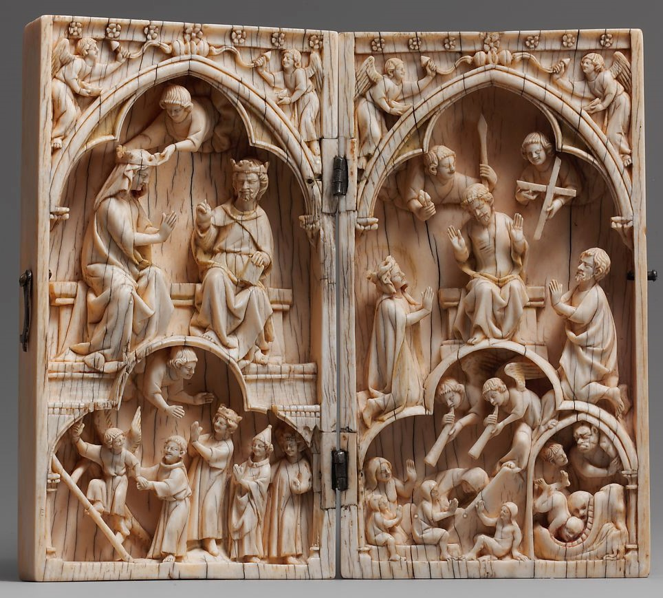 Deesis 1260-1270, France, Ivory diptych, The Cloister