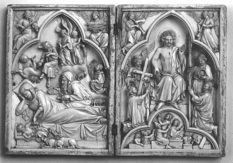 Diptyque Nativite Jugement dernier 1280-1300 Louvre