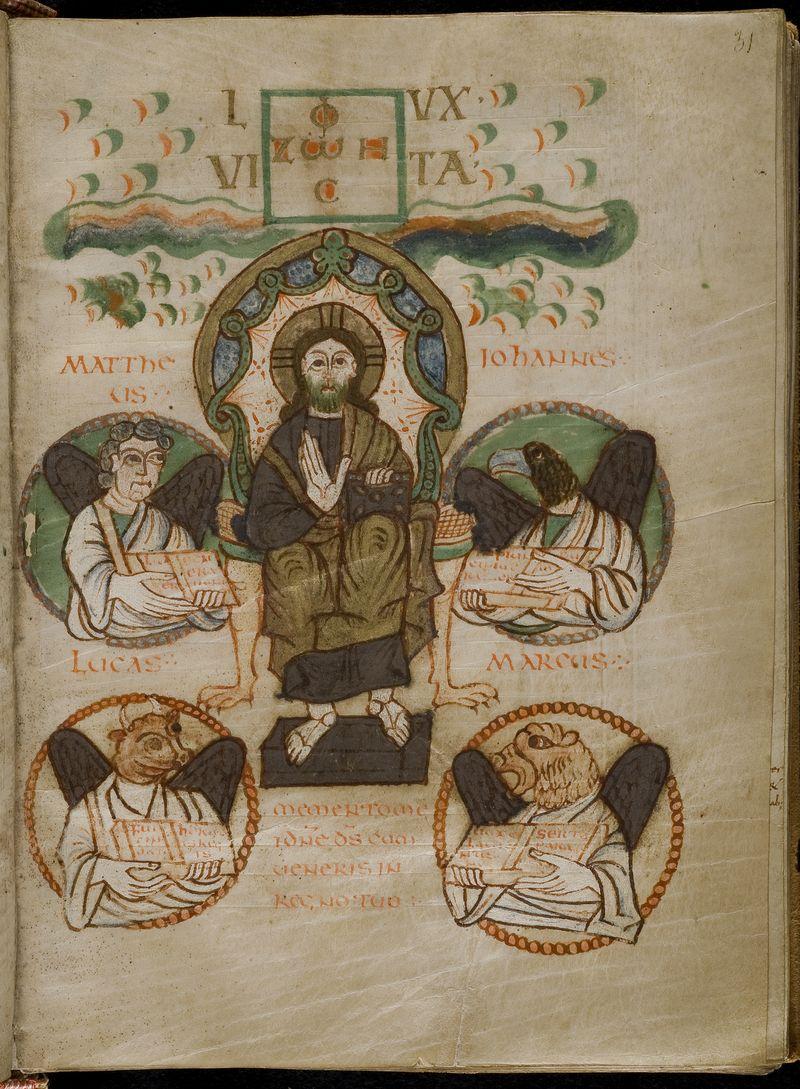 Evangeliaire de Saint Croix de Poitiers, Poitiers BM MS 17(65) fol 31r