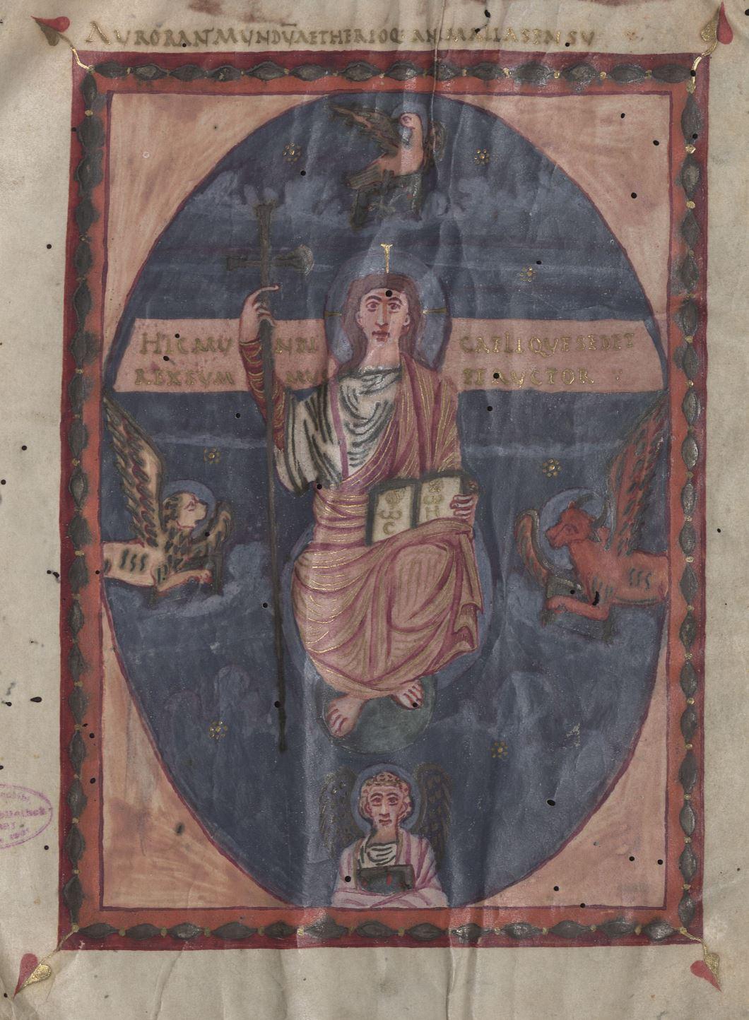 Evangeliaire de Weingarten HB II 40 fol 1v wurttembergisches landesbibliothek stuttgart