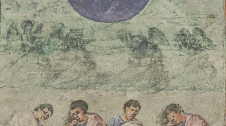 Evangile de Xanten Ms.18723, fol. 16v, circa 810, Bibliotheque Royale de Belgique, kbr.be detail