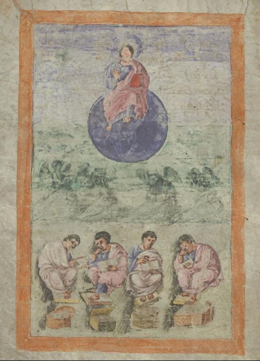 Evangile de Xanten Ms.18723, fol. 16v, circa 810, Bibliotheque Royale de Belgique, kbr.be