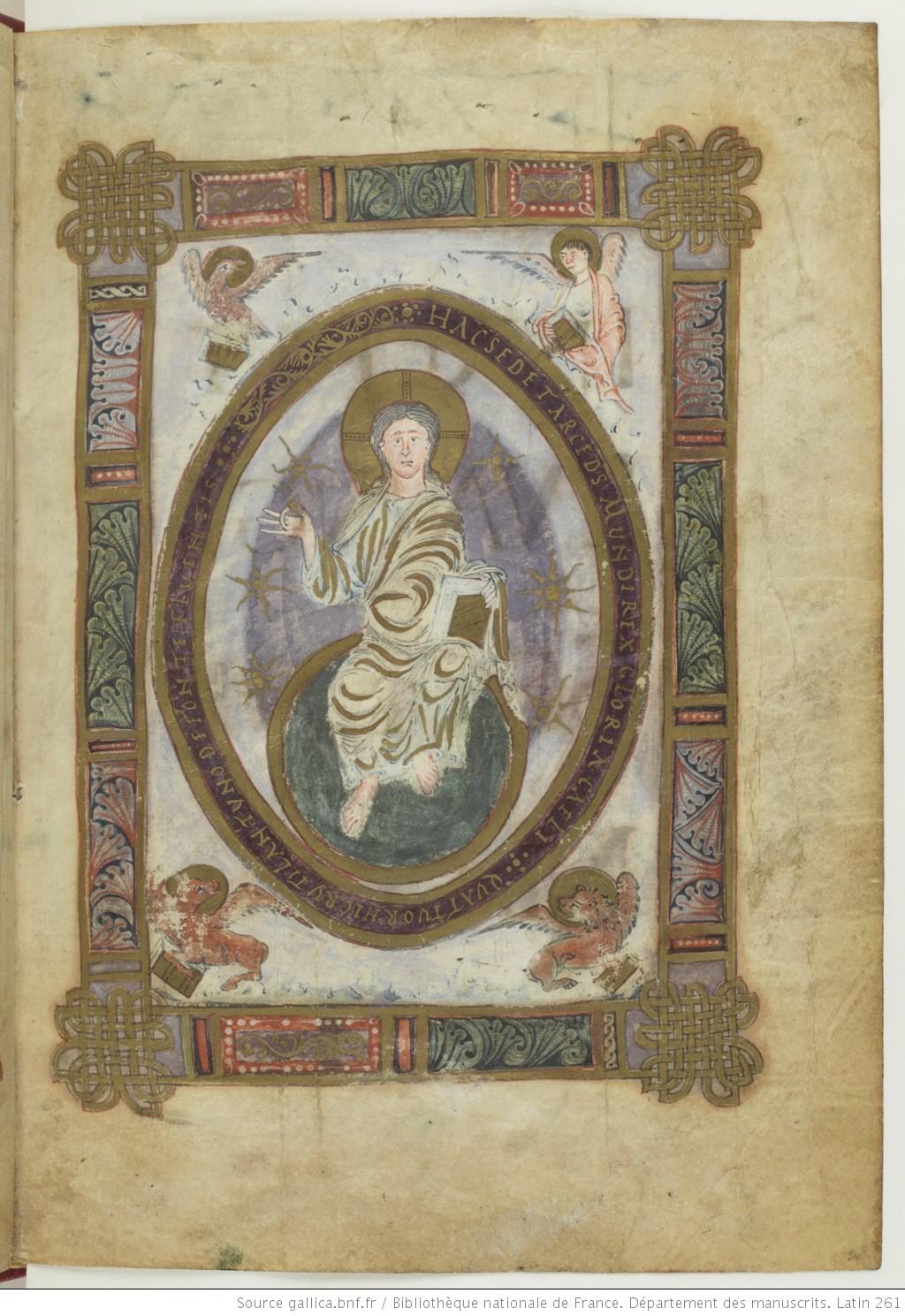 Evangile du Mans BNF lat 261 fol 18 Gallica