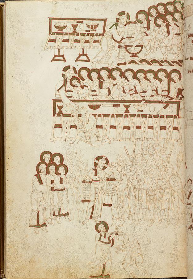 Evangiles de Matilda San Benedetto Po, 1075-99 Morgan mS 492 fol 100v