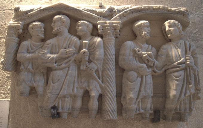 Fragment de sarcophage 370-400 Musee Lapidaire Avignon