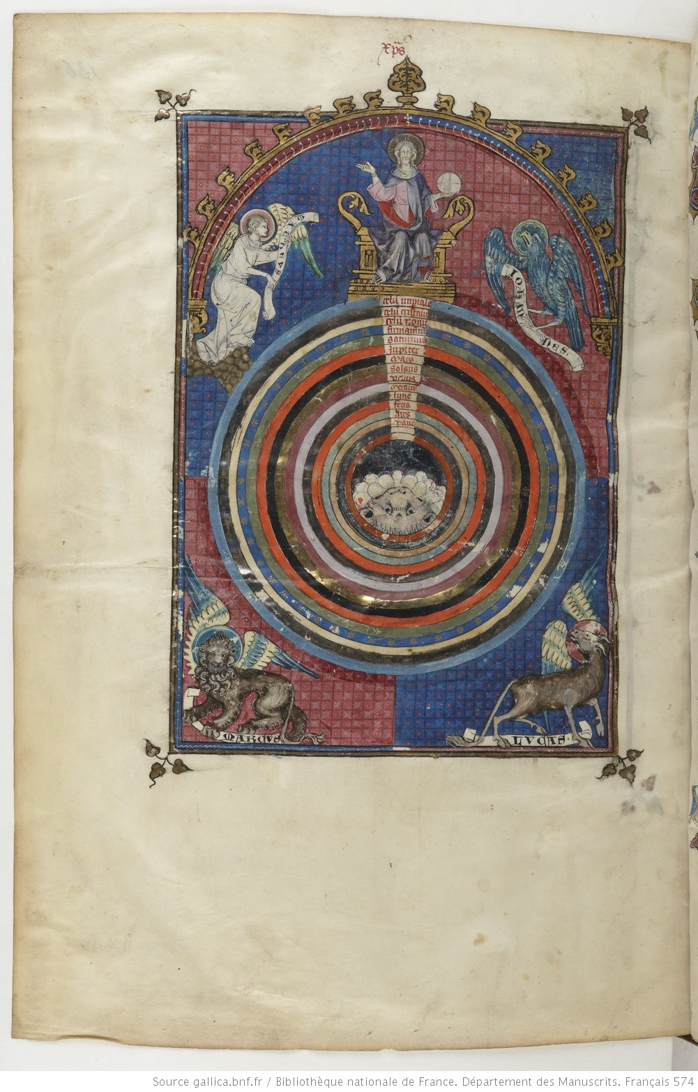 Gossouin_de_Metz_Image_du_Monde 1320-25 BnF, Français 146 fol 136v Gallica