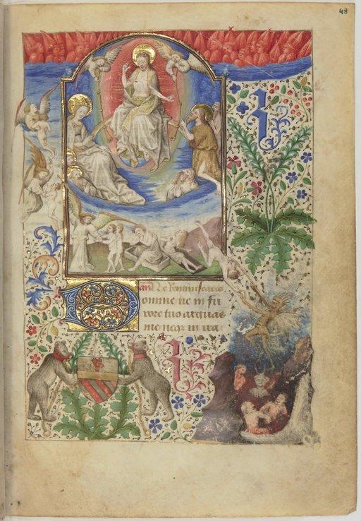 Heures de Guillaume Jouvenel des Ursins 1445-50 maitre de dunois (atelier)BNF NAL 3226, fol. 48