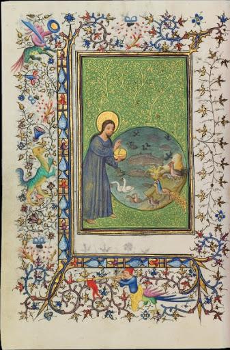Heures dites de Joseph Bonaparte Maitres aux rinceaux d'or Paris, vers 1415. BNF Mss, lat. 10538, f. 274 v