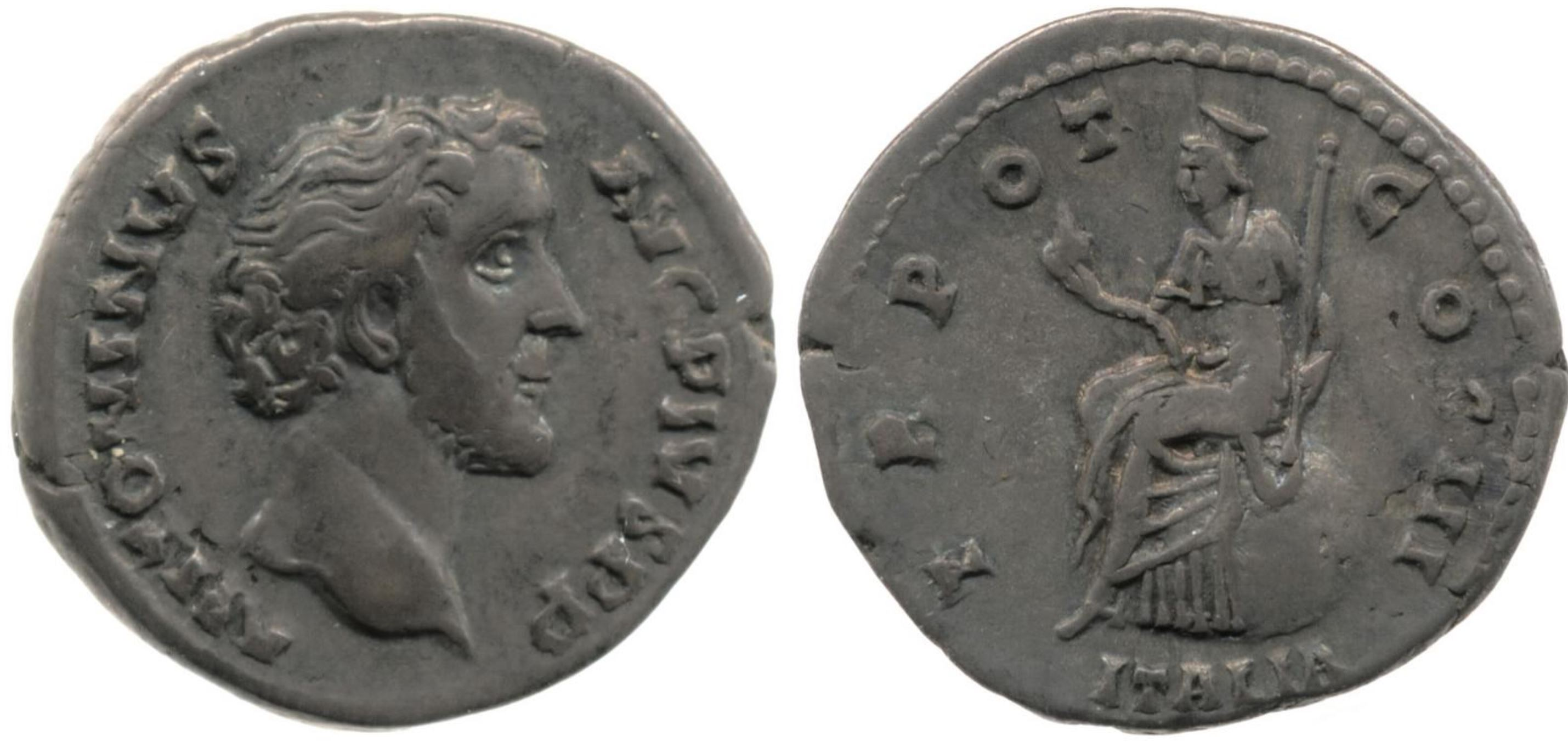 Italie 140-44 Denier Antoninus Pius Bristish Museum