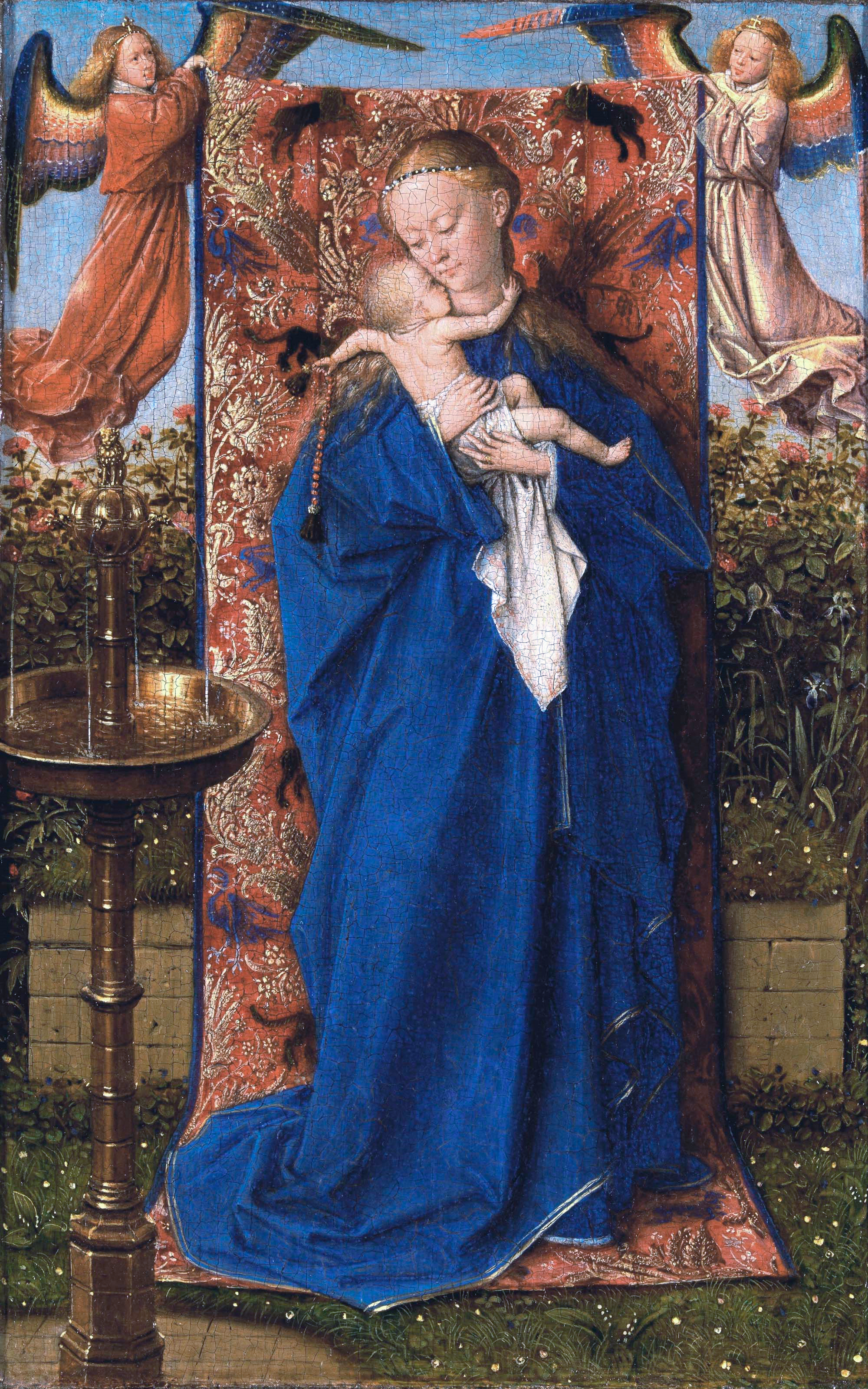 Madonna and Child at the Fountain, by Jan van Eyck