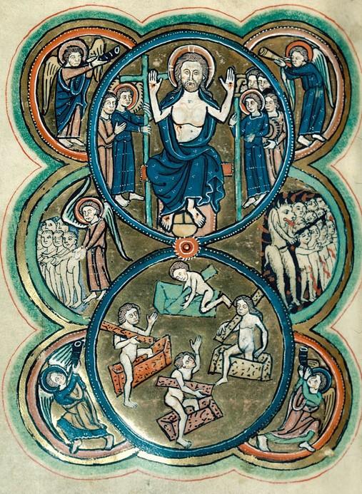 Jugement dernier 1250 Psautier Beaune - BM - ms. 0039
