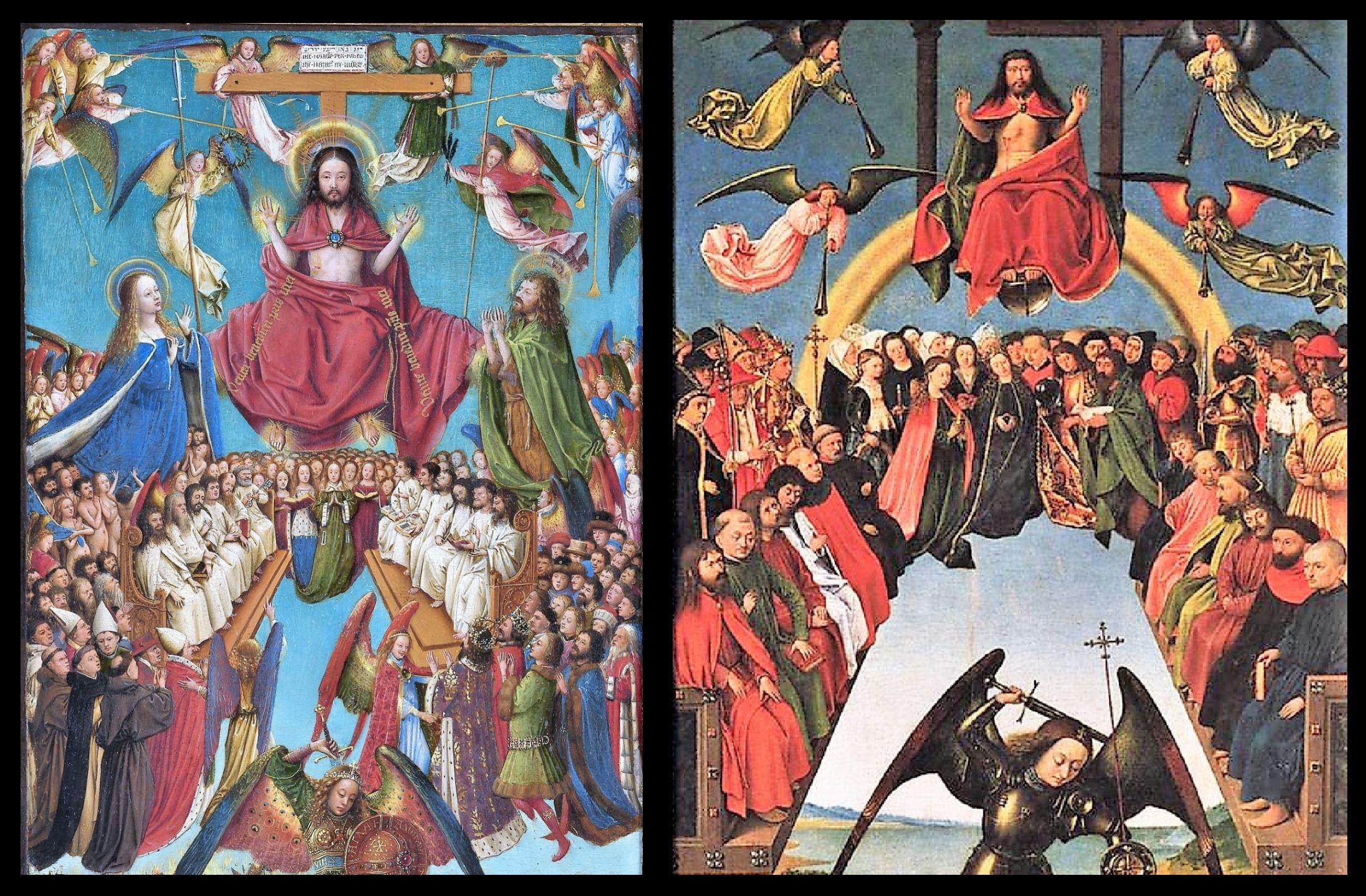 Jugement dernier Van Eyck 1430 MET comparaison Christus haut