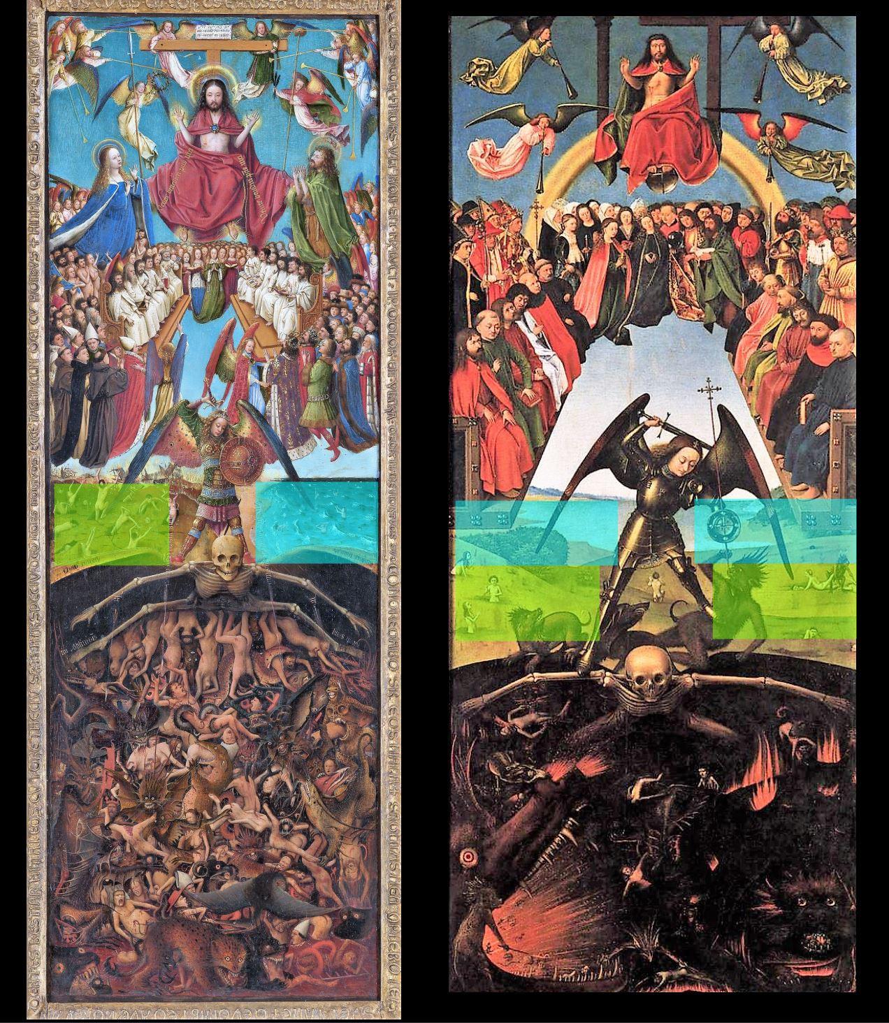Jugement dernier Van Eyck 1430 MET comparaison Christus. ensemble