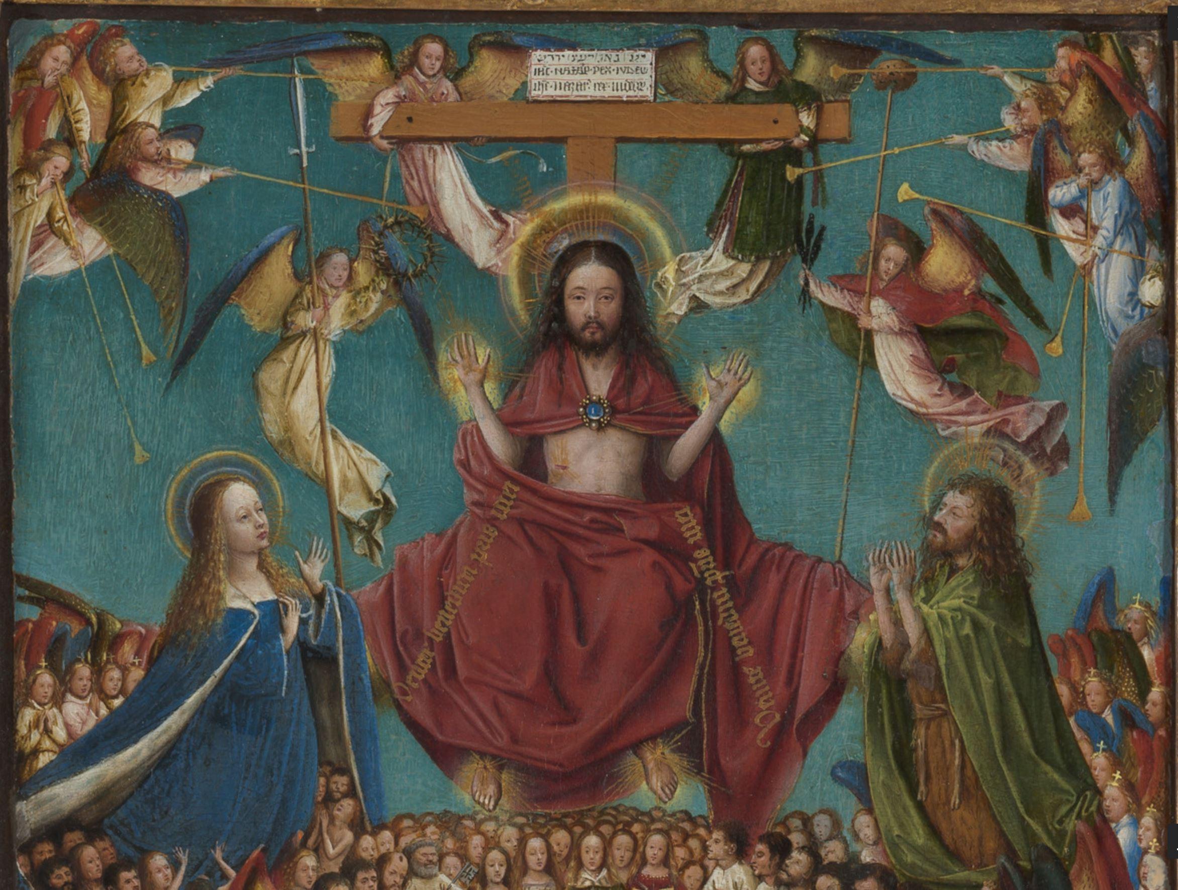 Jugement dernier Van Eyck 1430 MET detail christ