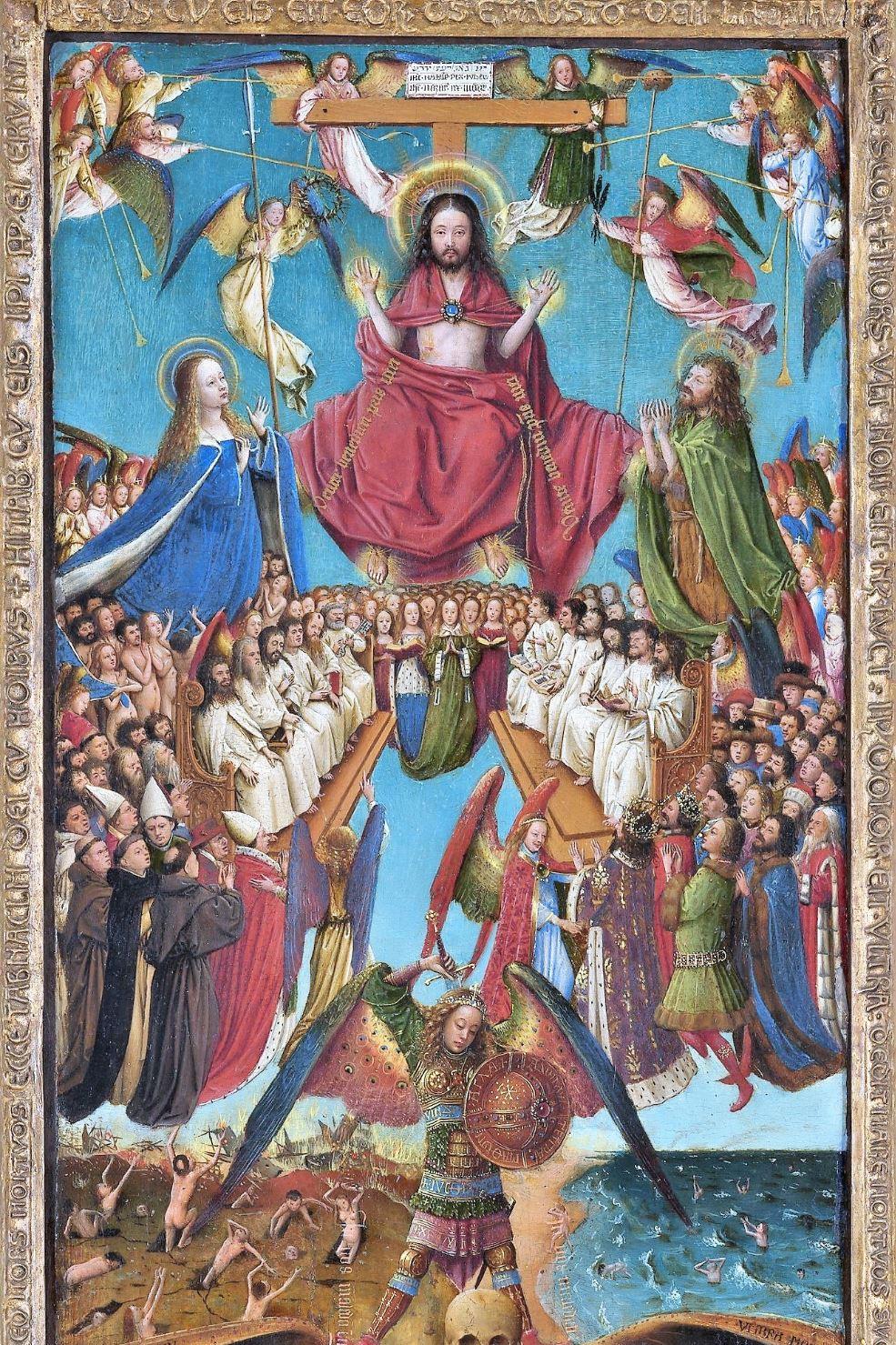 Jugement dernier Van Eyck 1430 MET haut