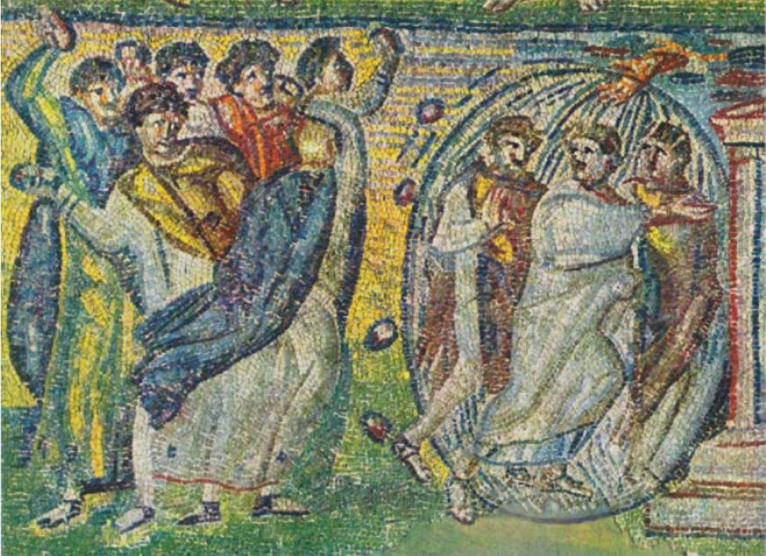 Moise et ses campagnons echappant a la lapidation Ste Marie Majeure 432-440