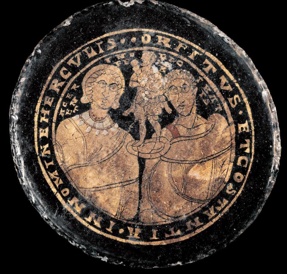 ORFITUS ET COSTANTIA IN NOMINE HERCVLIS British Museum 4eme siecle
