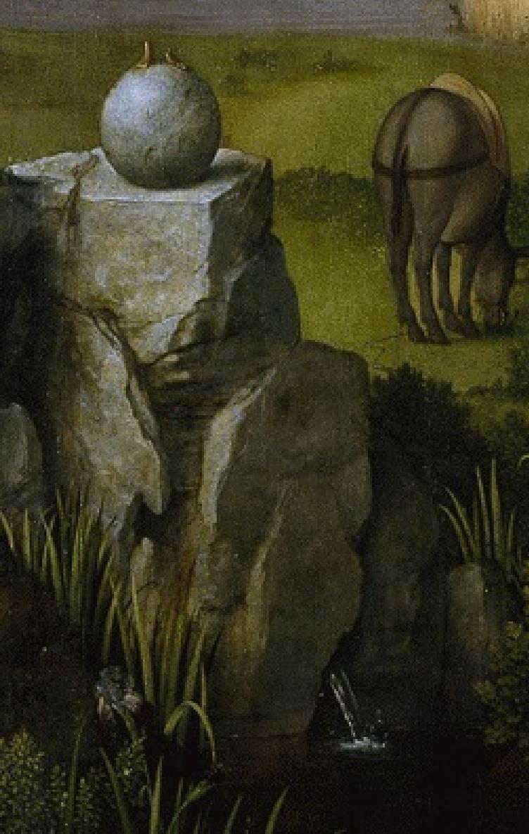 Patinir Repos_fuite_Egypte_1518-20_Prado detail statue