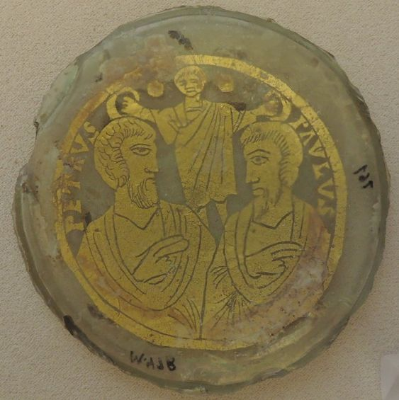 Pietro e Paolo ai lati del Cristo. Fine IV secolo Vaticano