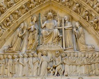 Portail du Jugement dernier, 1220-30, Cathedrale Notre-Dame, Paris complet