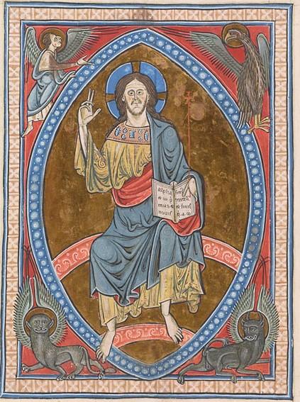 Psalter England, 1225 ca MS G.25 fol. 3r Morgan Library