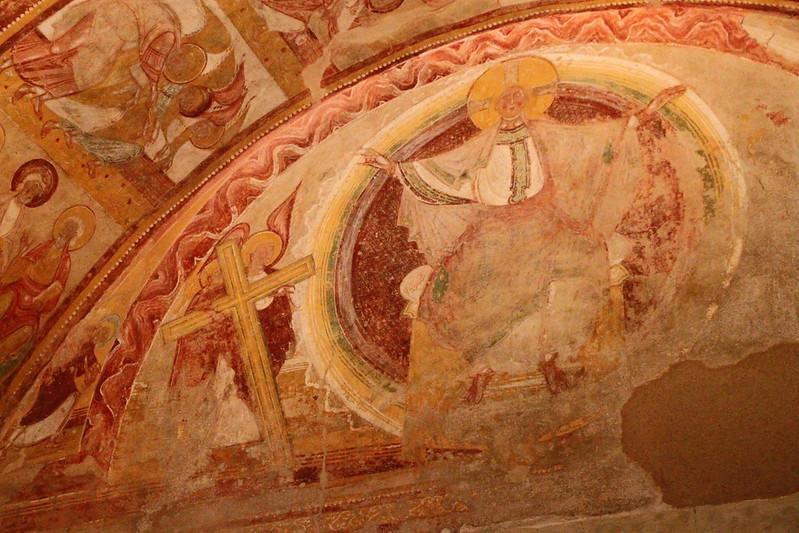 Saint Savin porche_apocalypse Christ