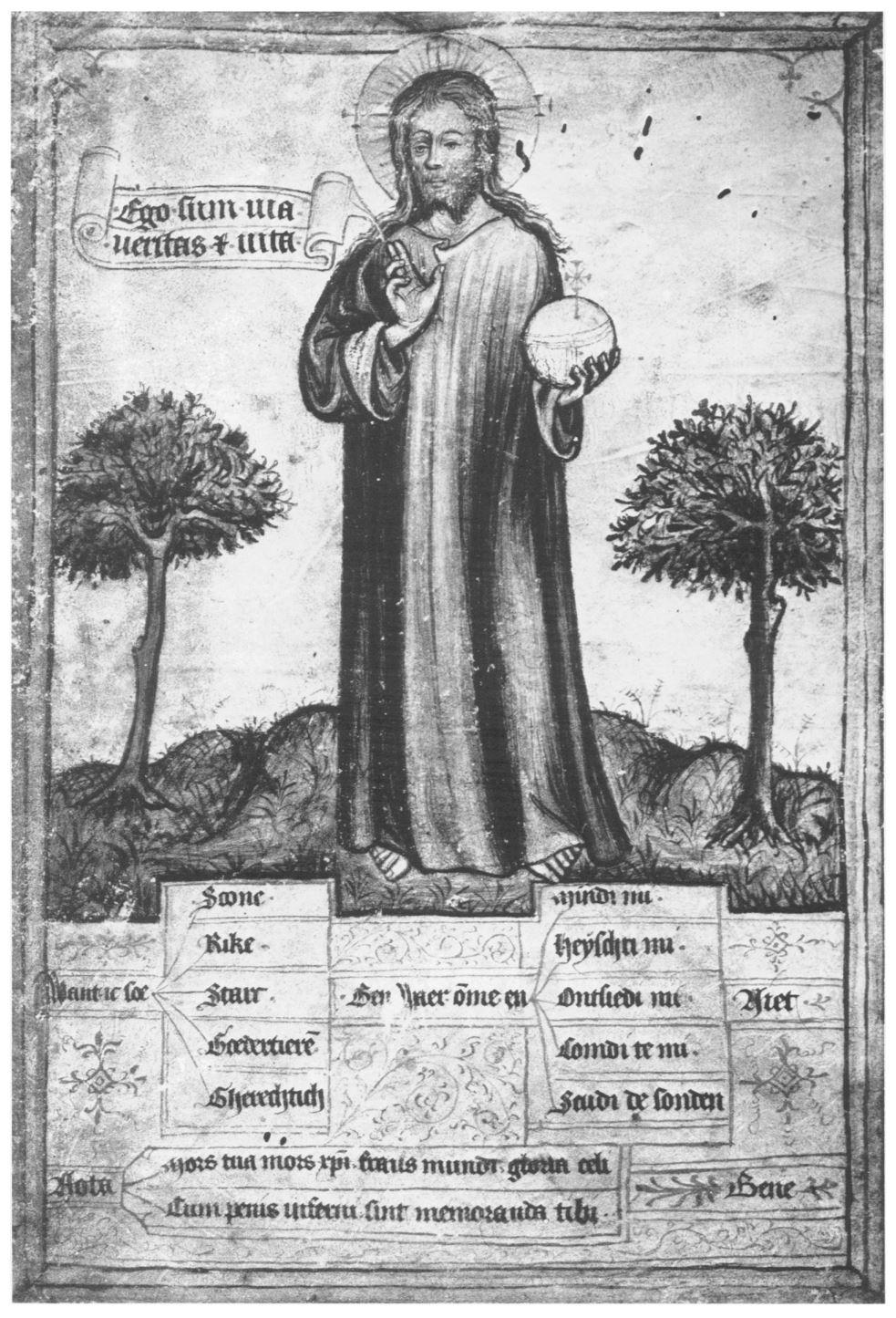 Salvator Mundi 1380-1410 Wiesbaden Hauptstaatsarchiv MS 3004 B10 fol 1