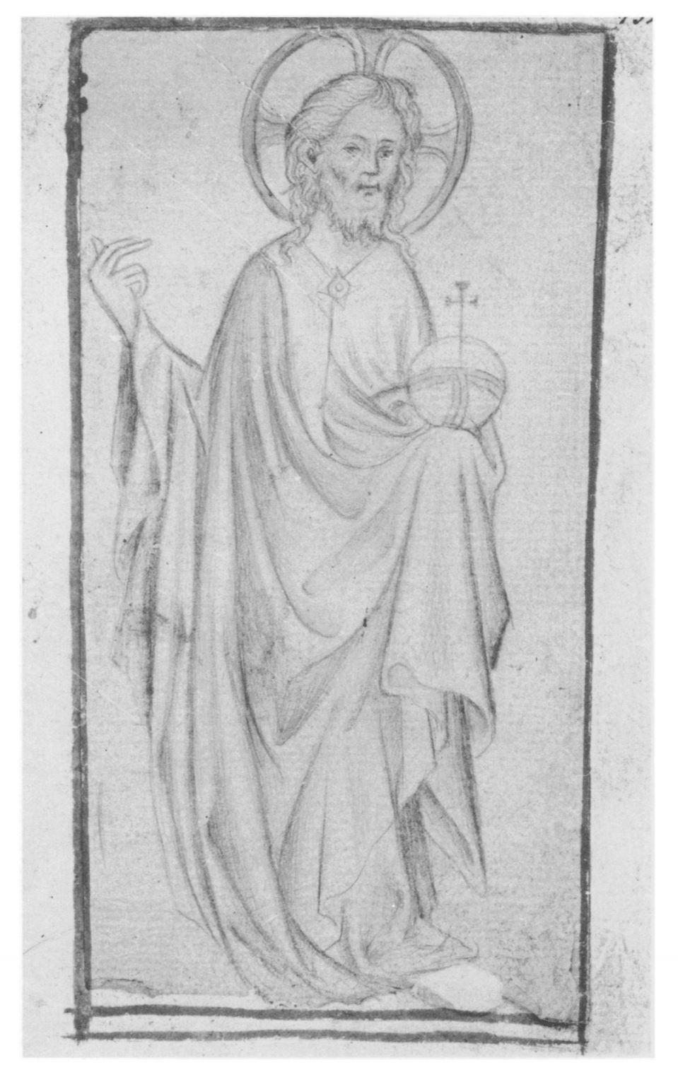 Salvator Mundi 1380-1410 Wiesbaden Hauptstaatsarchiv MS 3004 B10 fol 132r
