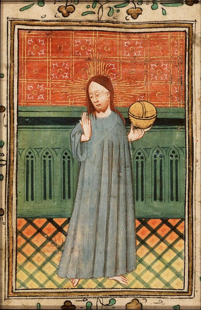 Salvator Mundi 1435 ca The Hague, KB, 131 G 3 fol 79v