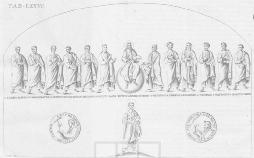 Sant Agata dei Gotti 462–470 gravure de Ciampini