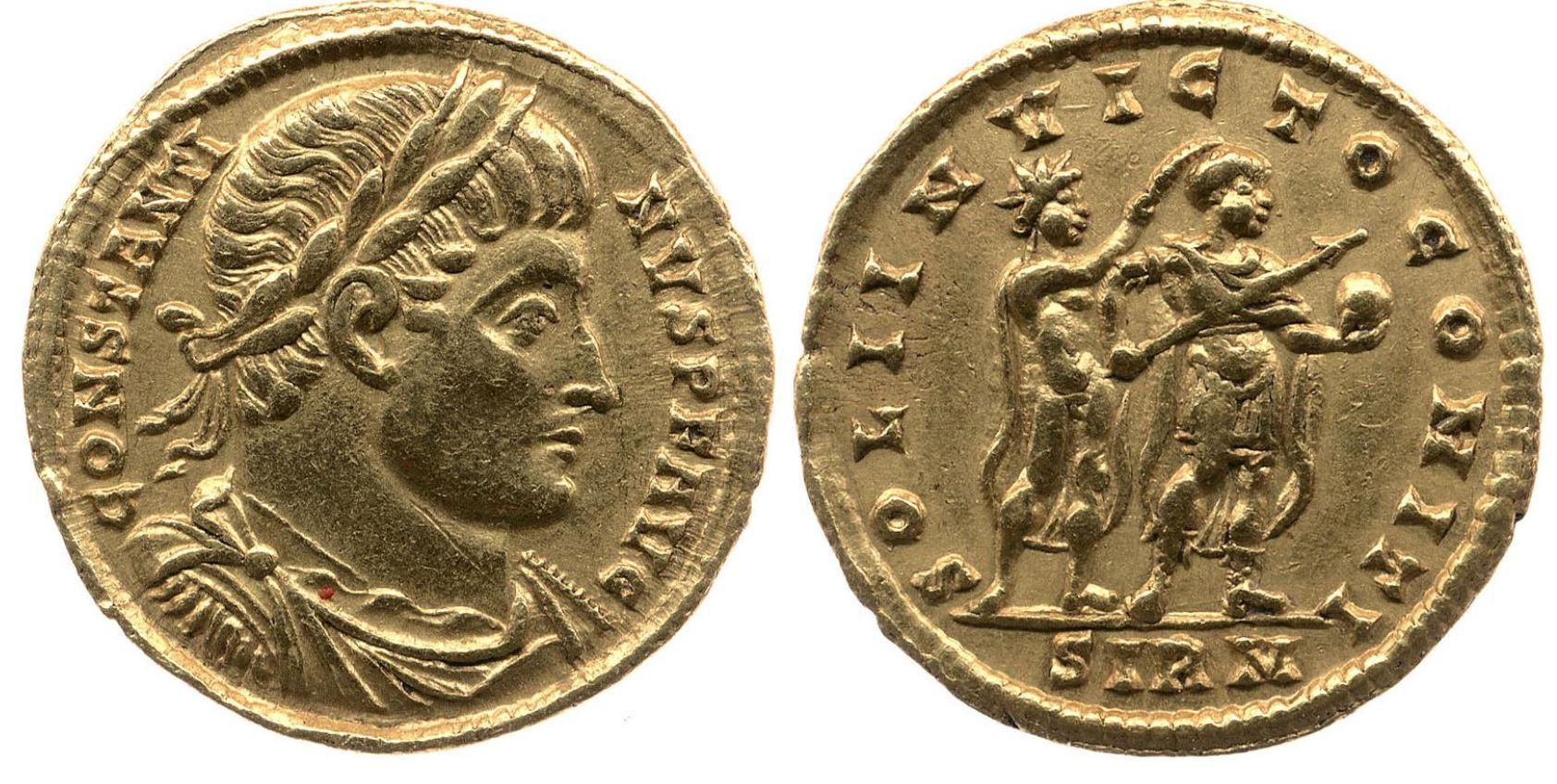 Sol 321 Solidus Constantin 1 British Museum