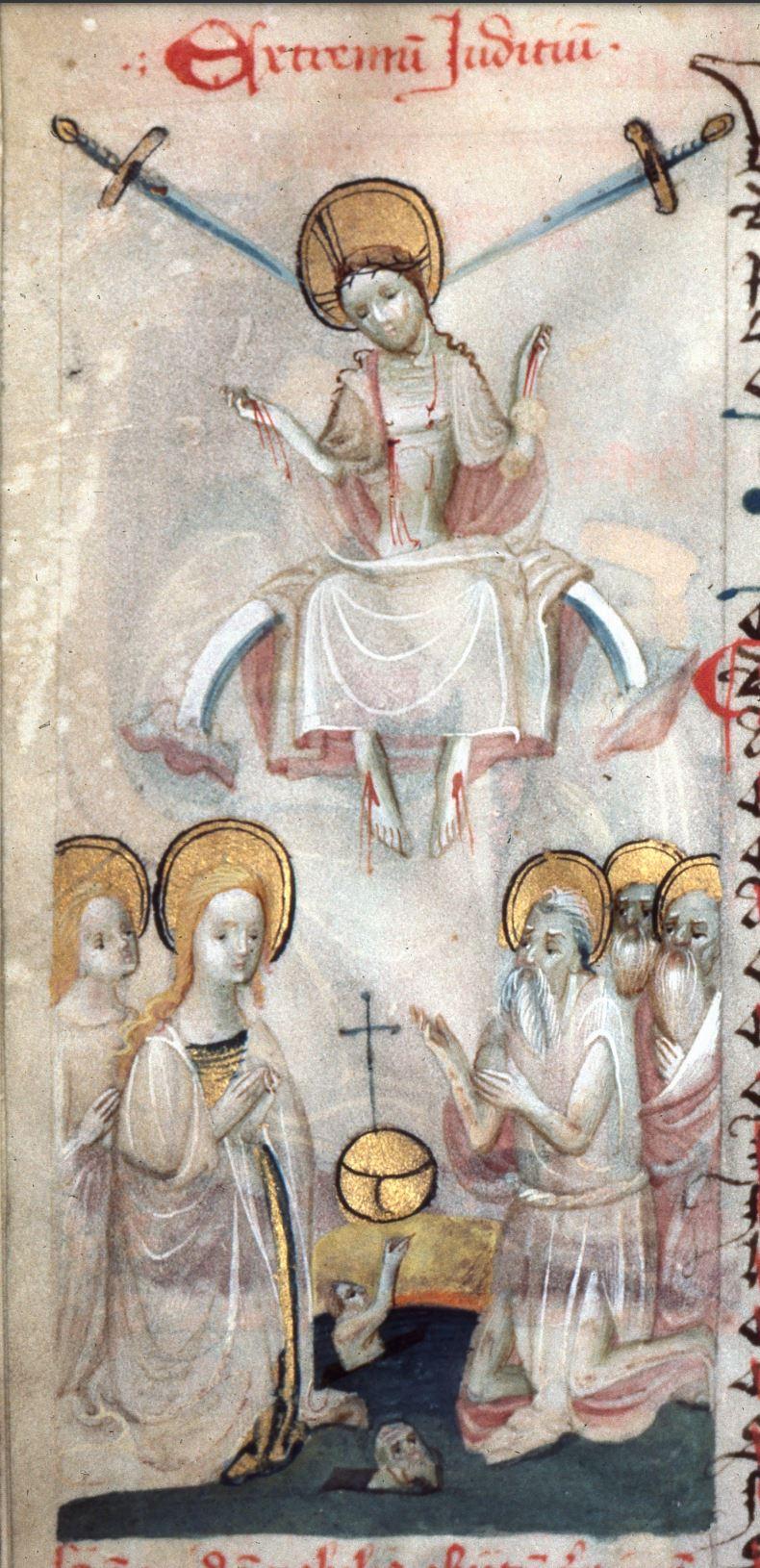 Speculum humanae salvationis 1415 -1425, Kanonie sv. Petra a Pavla 80, fol. 44v haut