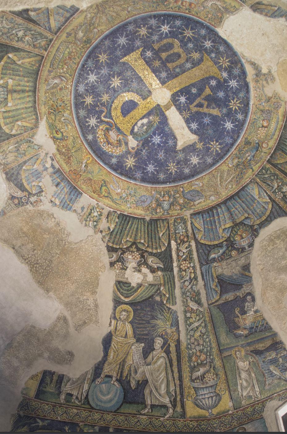 Traditio Legis 465–486 Baptistere des San Giovanni in Fonte Naples vue generale