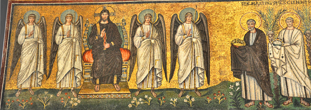 Sant'Apollinare Nuovo, Right Nave Procession: Christ and SS. Mar