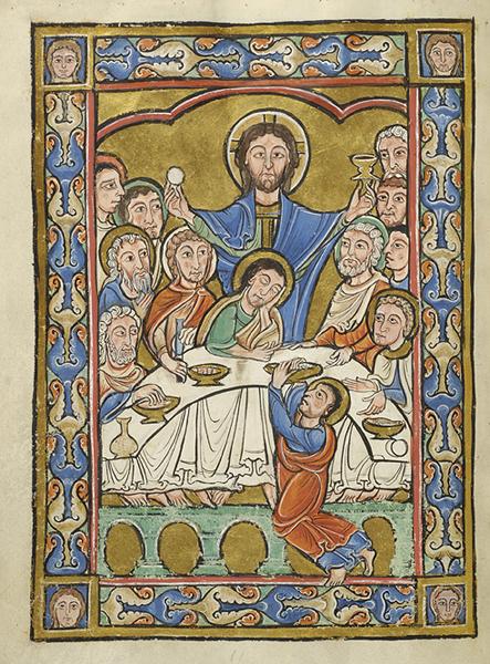 Vita Christi France ca. 1175 MS44 fol 6v Morgan Library