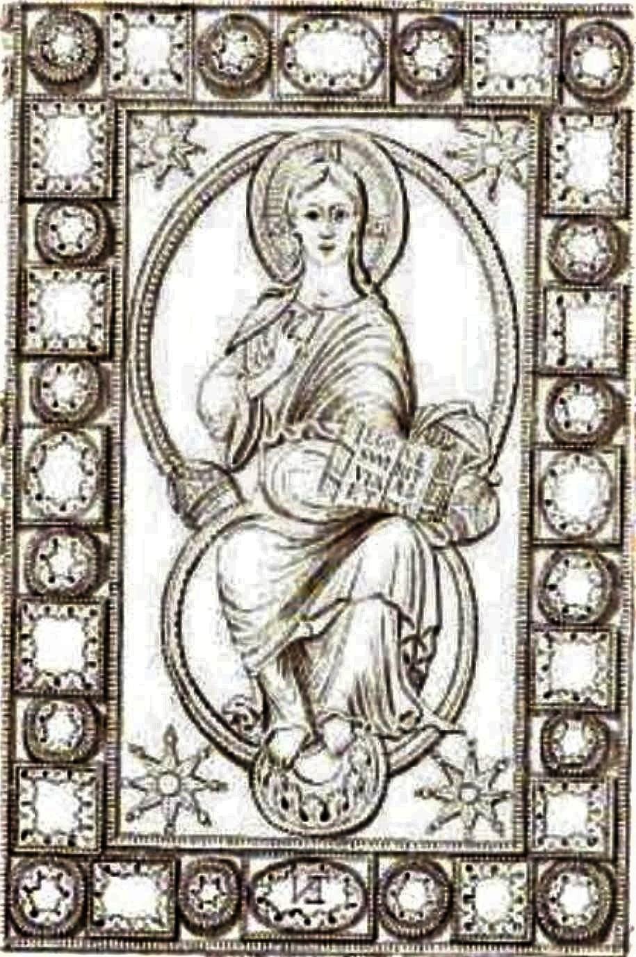 codex-aureus-de-saint-emmeran 870 ca detail Munich, Bayerische Staatsbibliothek christ