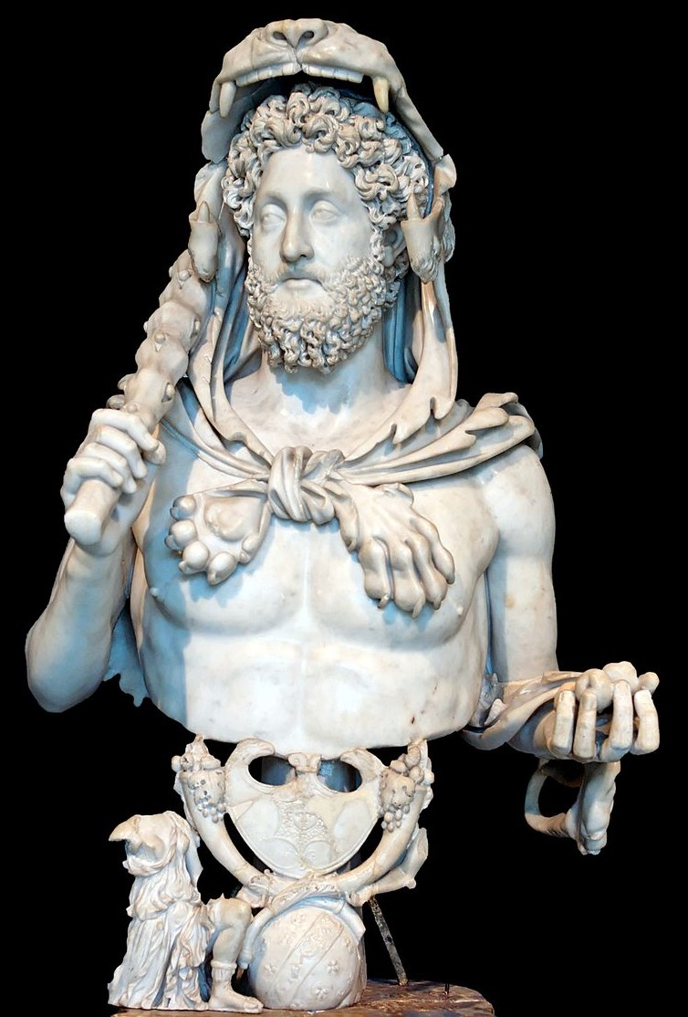 empereur Commode avec les attributs d'Hercule 180_93 Musee Capitolin, Palais des Conservateurs