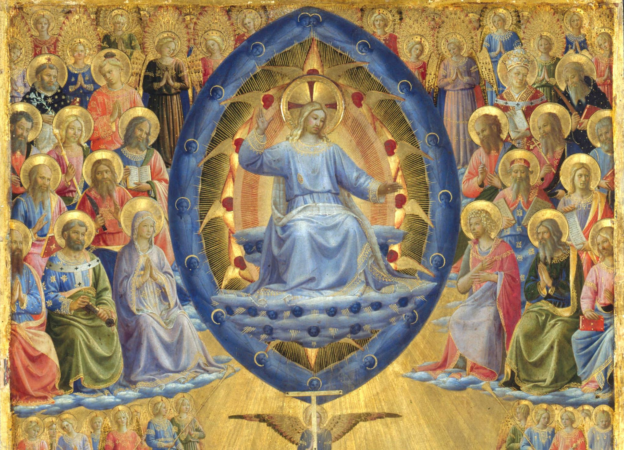 fra_angelico 1435-50 _the_last_judgement_(winged_altar)_-Gemaldegalerie Berlin detail