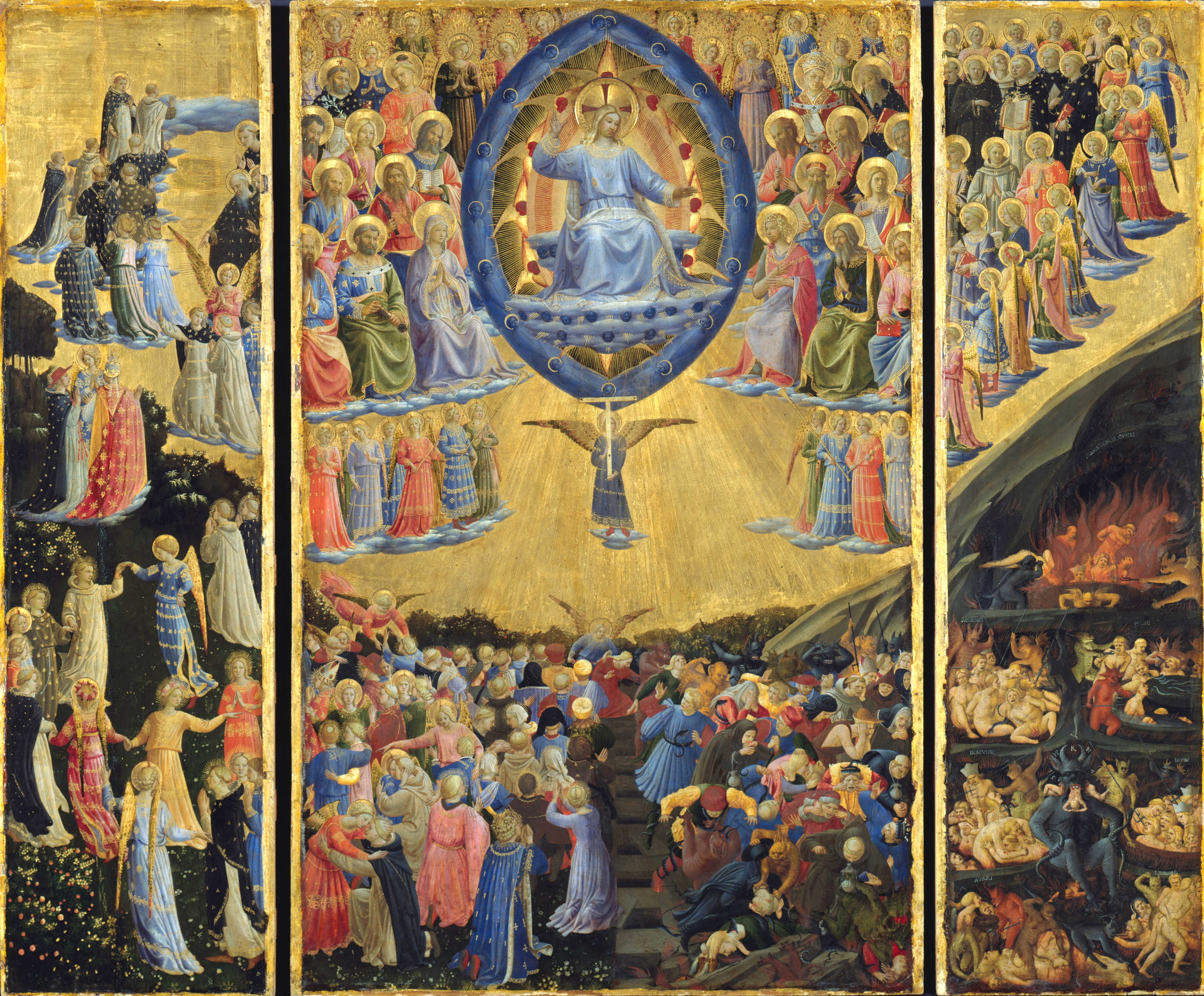 fra_angelico 1435-50 _the_last_judgement_(winged_altar)_-Gemaldegalerie Berlin