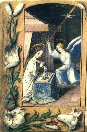 heures-de-renata-de-france 1527 ca Annonciation gauche 1 Musee de Casa Romei Ferrare