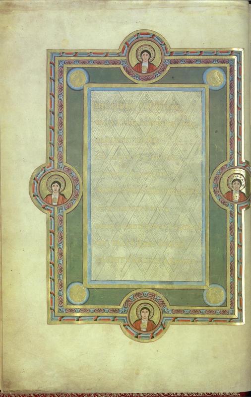 1046 Evangeliaire Henri III Beatitudes Codex Aureus Escurialensis fol 3