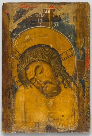 1175-1200 Double sided Icon of theMan of Sorrows Byzantine Museum Kastoria