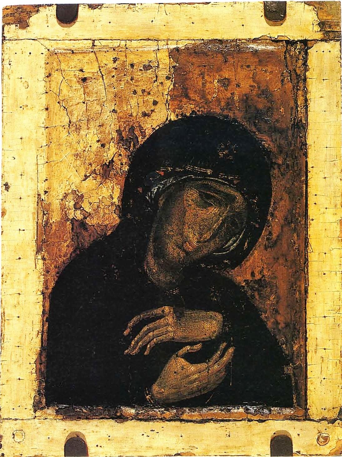 1250 ca Vierge de douleurs icone Galerie Tretyakov Moscou