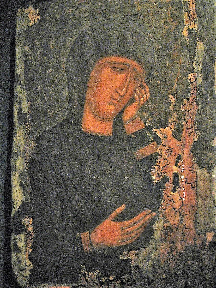 1300-50 Virgin_in_Lament,_Macedonian_workshop Benaki_Museum,_Athens
