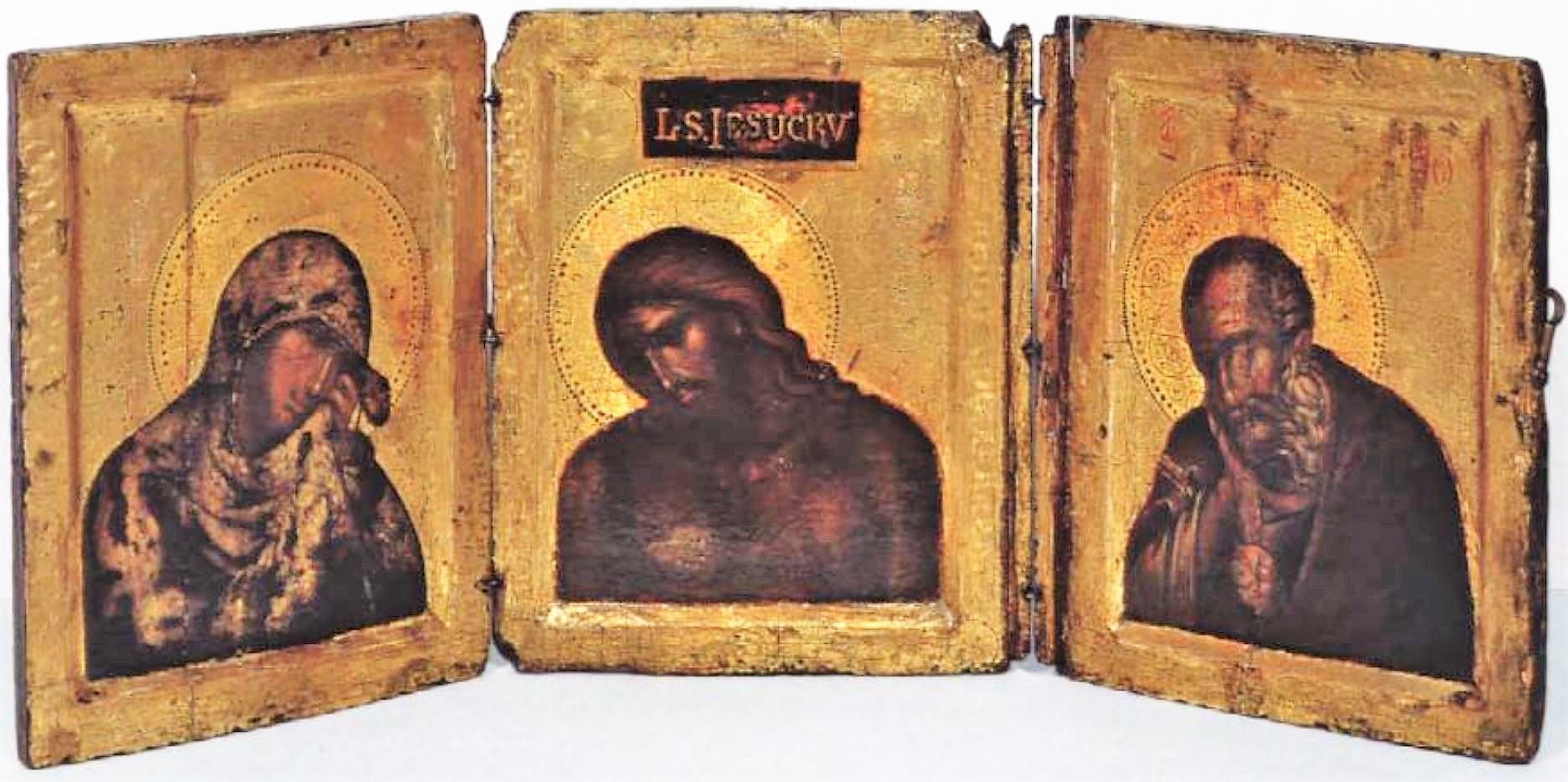 1300 ca Triptyque avec l'Homme de Douleur Simon van Gijn Museum, Dordrecht