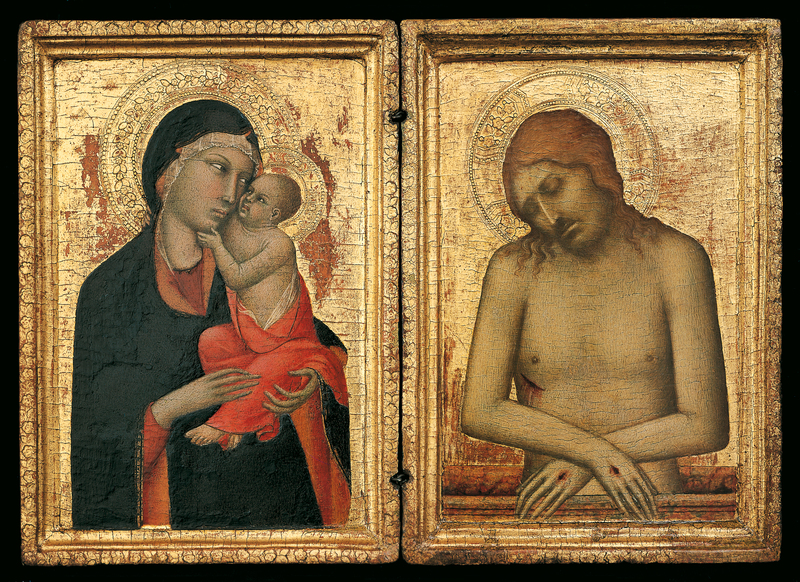 1326-1328 Simone Martini, Madonna with Child, and Christ de pitie Horne Museum Florence