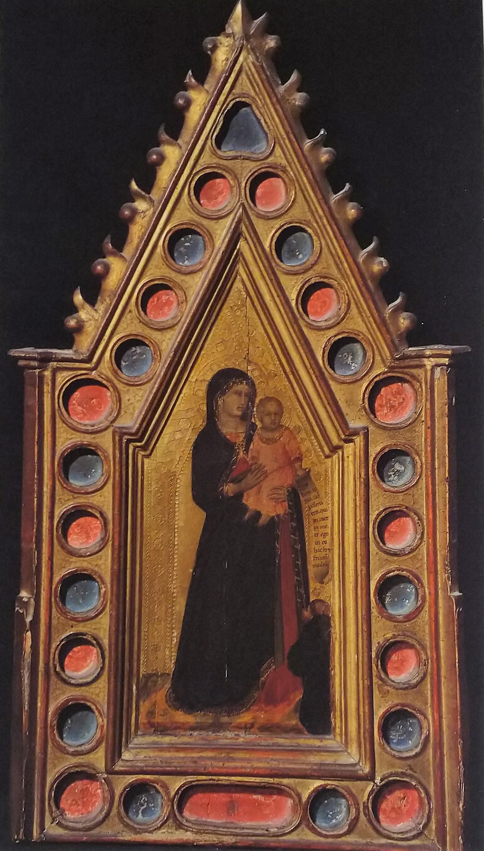 1330-40 Pietro Lorenzetti Tabernacle with Madonna and Child, Florence, Villa I Tatti, Collezione Berenson B