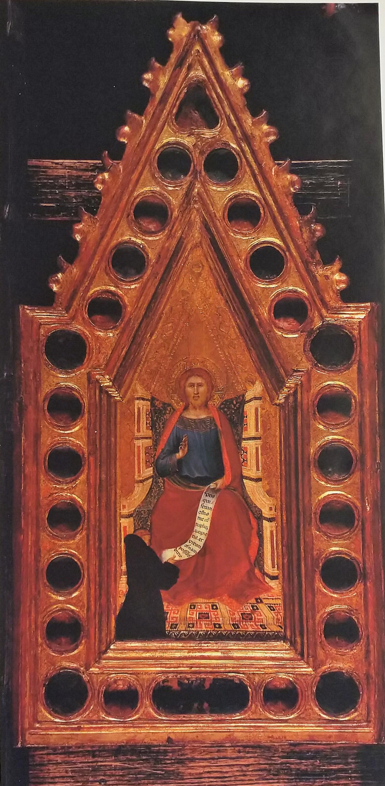 1330-40 Pietro Lorenzetti reliquaire avec un moine franciscain coll priv B