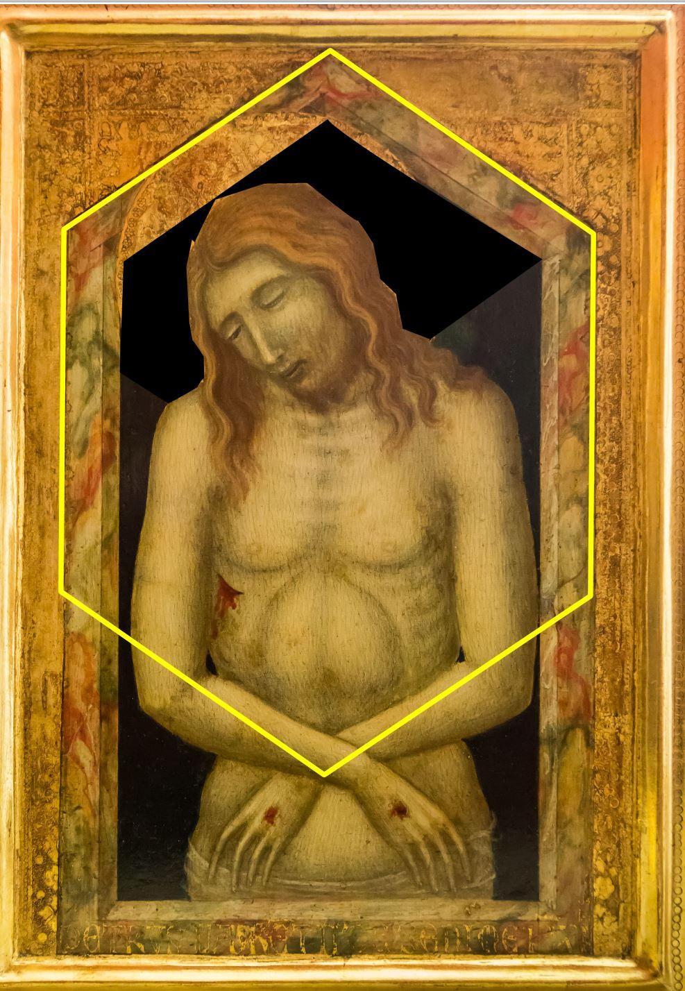 1340-45 Lorenzetti Pietro Ecce homo Lindenau Museum Altenburg sans aureole